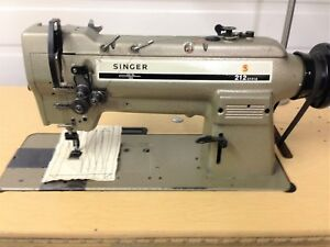 Singer 212u141a Two Needle Feed 1 2 Table 110v Motor Industrial Sewing Machine