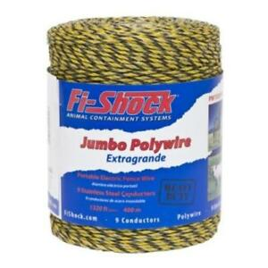 Fi shock Pw1320y9 fs Electric Fence Poly Wire Yellow 1320 039