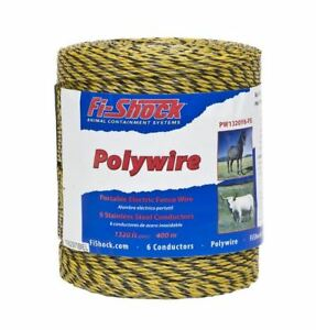 Fi shock Pw1320y6 fs Electric Fence Poly Wire 1320 039