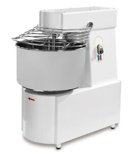 New Dough spiral Mixer 48 Lts 50 Lbs Flour 2 Hp 2 Sp Made In Italy 1ph ama050m