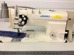 Juki Lh 3128 Two Needle Feed 1 4 Table 110v Motor Industrial Sewing Machine
