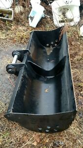 Heavy Duty Oem Cat 308 59 Excavator Grading Ditching Bucket 2 Pins