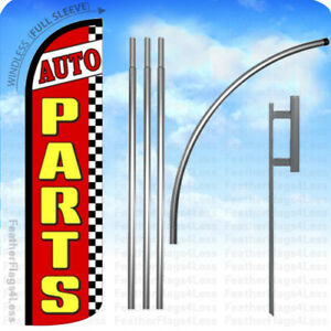 Auto Parts Windless Swooper Flag 15 Kit Feather Banner Sign Rz