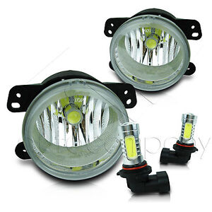 2011 2013 Jeep Grand Cherokee Replacement Fog Lights W cob Led Projector Bulbs