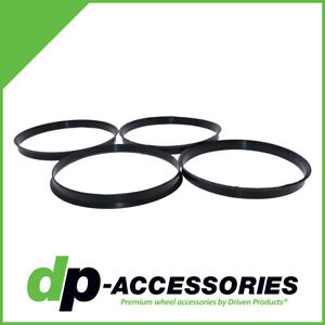 Black Polycarbonate Hub Centric Rings 108mm To 106mm 4 Pack