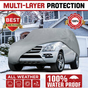 Multi Layer Genuine Waterproof Suv Van Cover For Auto Car Protect All Weather 2x