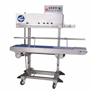 Bap Industrial Band Sealer Right To Left Feed Dry Ink Coding 110v 60hz