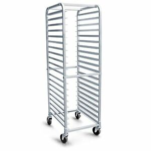 Kitchen Bun Pan Rack With Wheels Commercial 20 Tier Bakery Sheet Storage Carter
