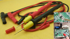 10 Pair Needle Ic Smt Smd Multimeter Pen For Test Probes Cables 4mm Banana Plug