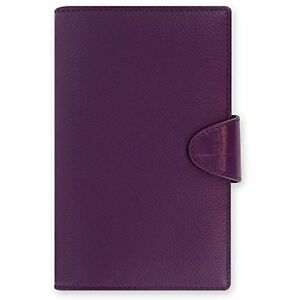Daily Weekly Planner Calipso Leather Compact Purple Organizer Agenda Diary 2018