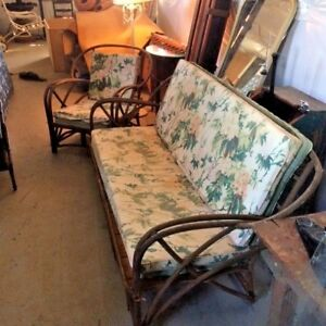 Antique Bentwood Sofa And Matching Chair