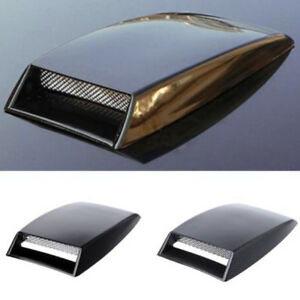 Car Universal Abs Decorative Air Flow Intake Scoop Turbo Bonnet Vent Cover Hood