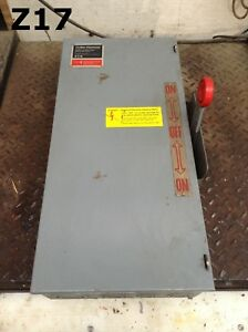 Cutler hammer Dt363ugk Double Throw Safety Transfer Disconnect Switch 100a