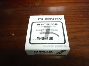 Lot Of 5 Burndy Hycrimp Yhd 400 Compression Tap Connectors