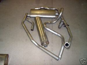 1961 1962 Cadillac Single Exhaust System 304 Stainless Without Resonator