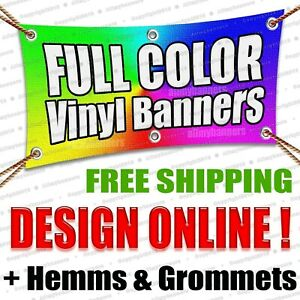 2x5 Custom Vinyl Banner 13oz Full Color Free Design Included Ambsp