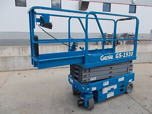 New Genie Gs1930 19ft Electric Aerial Gs 1930 Scissor Lift Boom Manlift Man