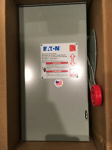 Eaton Dh361urk 3pole 30a 600v Nema 3r Disconnect Switch Brand New