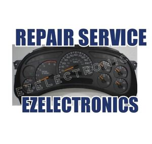 2003 To 2006 Instrument Cluster Repair Service Gmc Chevrolet