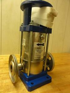 New Gould Stainless Steel Ssv Vertical Mutistate Pump 15 Gpm 1100 Max 5 5 Hp