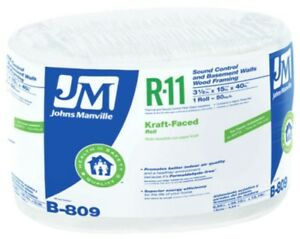 Johns Manville 90003737 Kraft faced R 11 Fiberglass Insulation Roll 15 X 40