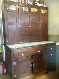 Vintage Sellers Hoosier Kitchen Cabinet Early 1900 S