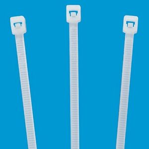 Nylon Cable Ties 4 Natural white 15 000ct 18lb Tensile W Cable Tie Gun