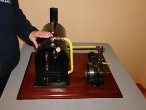Stuart No 9 Steam Engine With Flyball Governor And Large Boiler