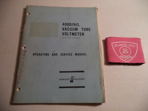 Hewlett Packard 400d h l Vacuum Tube Voltmeter Operating Service Manual 1966