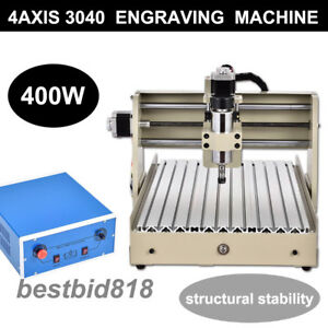 4axis Cnc Router 3040t Engraver Engraving Wood Milling Machine Carving 3d Drill