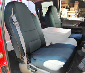 Dodge Ram 1998 2002 Charcoal S leather Custom Made Fit Front Seat Cover