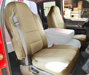 Dodge Ram 1998 2002 Beige S leather Custom Made Fit Front Seat Cover