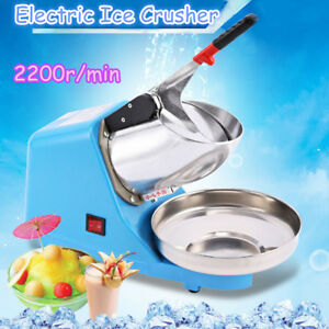 Electric Ice Crusher Shaver Commercial Machine Snow Cone Maker 2200r min 65kg h