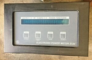 Ge 3720 Acm 277 Digital Electronic Power Monitor Meter 20 Ma 3 phase