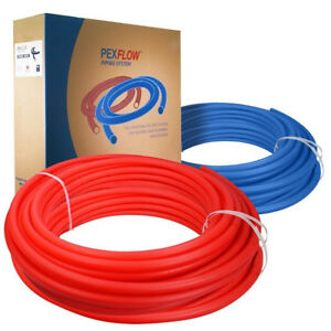2 Rolls 1 2 X 100ft Pex Tubing Blue And Red Potable Water Pex b non barrier