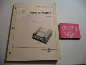 Hewlett Packard Hp 7245a Plotter printer Service Manual 07245 90000