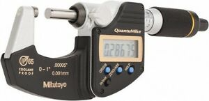 Mitutoyo 293 185 0 1 X 00005 0 001mm Ip65 Quantumike Outside Micrometer