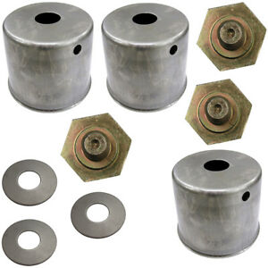 3 Blade Bolt Beveled Washer Dust Cup Cover Set For Kubota Zd321 Zd326s Mower
