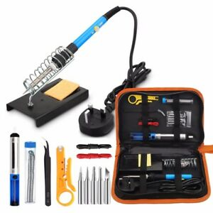 Soldering Iron Kit 60w Adjustable Temperature Welding Tool Digital Multimeter Hq