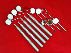 Cone Socket 5 Pcs Dental Mouth Mirror Hollow Handles With 10 Pcs Of Mirrors