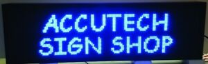 Programmable Led Electronic Message Sign 54 X 16 1 8 X 3 3 4 Blue Indoor