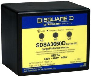 Square D Panel Mounted Delta Power Systems Surge Protective For Pumps Motor