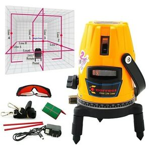 New Automatic Self Leveling 5 Line 1 Point 4v1h Laser Level Building Bricklaying