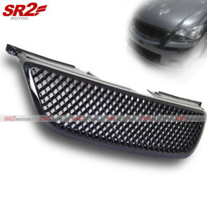 Abs Front Mesh Honeycomb Black Bumper Hood Grill Grille Fits 02 04 Nissan Altima