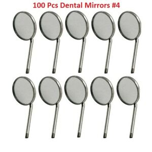 100x Disposable Dental Mouth Mirrors 4 Best Quality Dental Instruments