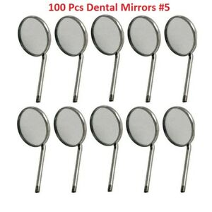 100x Disposable Dental Mouth Mirrors 5 Best Quality Dental Instruments