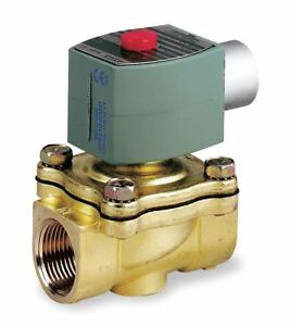 Asco 220 240vac Brass Solenoid Valve Normally Closed 3 4 Pipe Size 8210g009