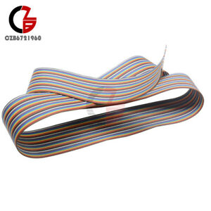1m 3 3ft 40 Pin Flat Color Rainbow Ribbon Idc Cable Wire Rainbow Cable