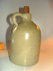 Antique Vintage Ceramic Jug Small Hand Thrown Pottery Stoneware Salt Glazed Rare