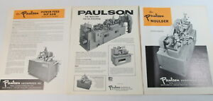 Paulson Molder Ripsaw Original Brochure Literature Excellent Condition 1974